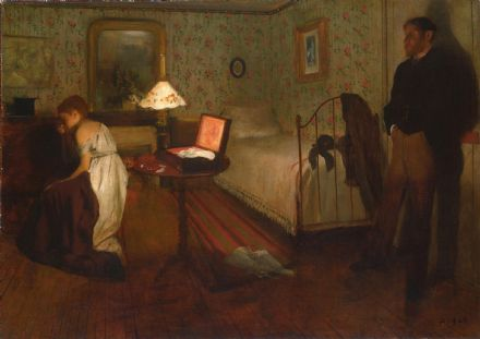 Degas, Edgar: Interior. Fine Art Print/Poster. Sizes: A4/A3/A2/A1 (003750)